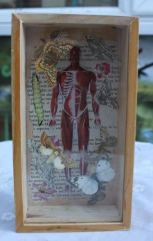 Recycled domino box with decoupage Price: £15.00